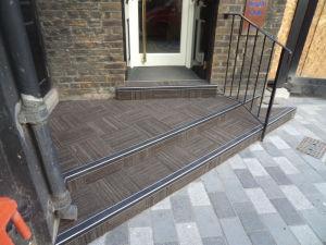 health club flooring on stairs