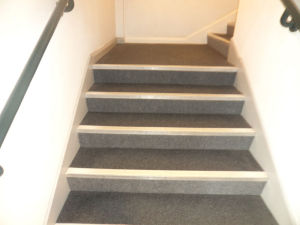 safety flooring on stairs
