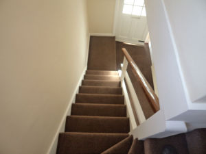 stairs fully carpeted